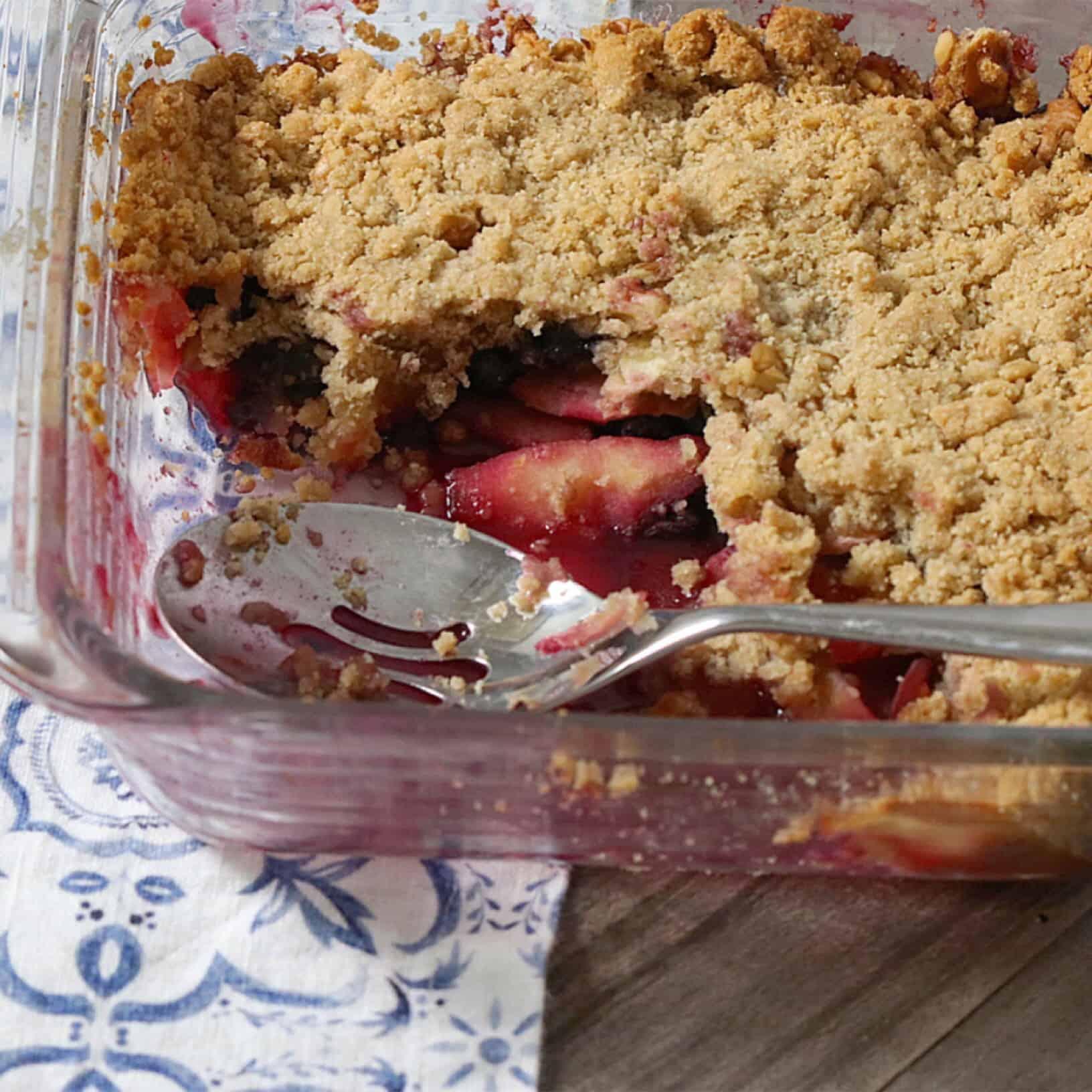 Vegan + Grain-Free Apple Berry Crumble