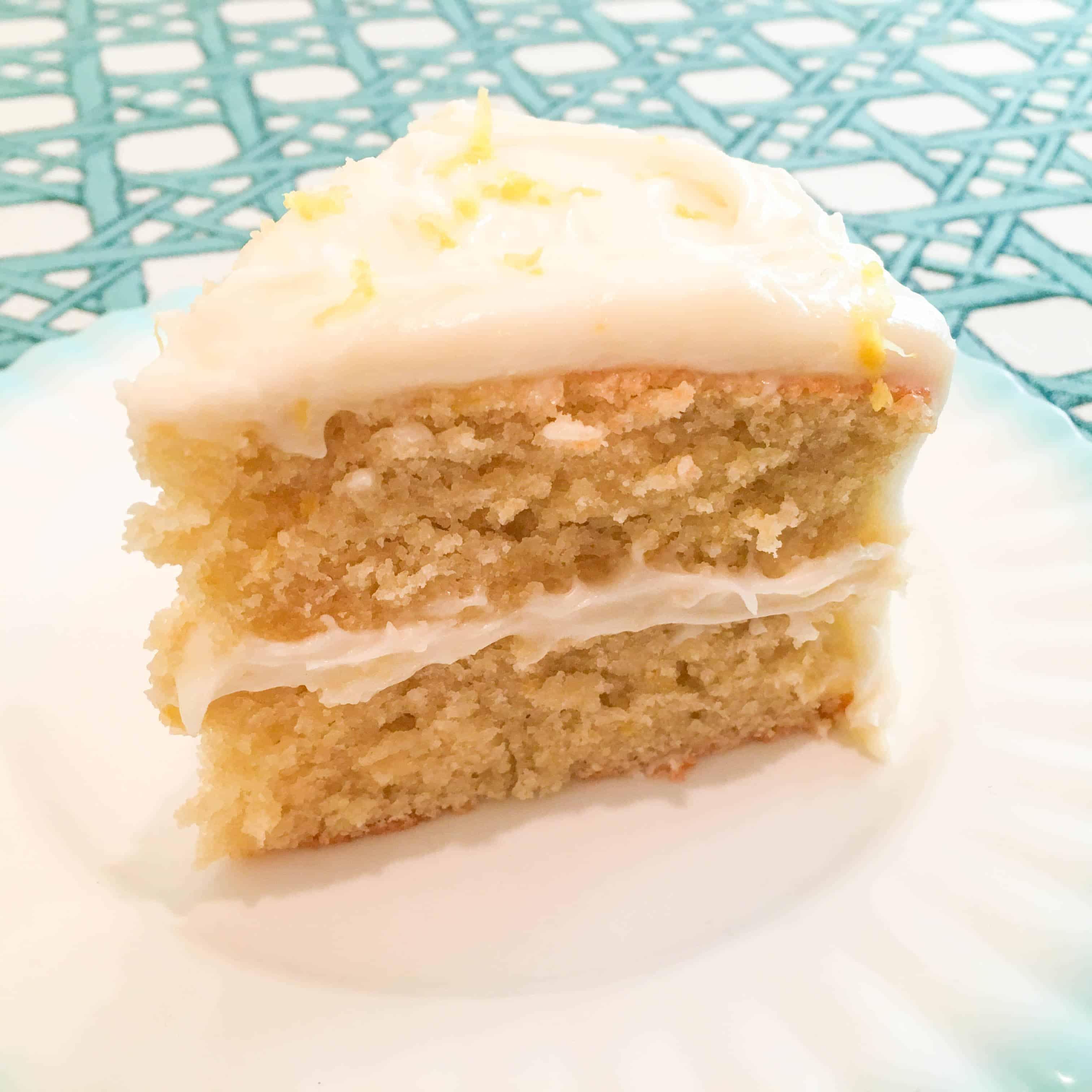 Lemon Chiffon Cake w/Lemon Cream Cheese Frosting