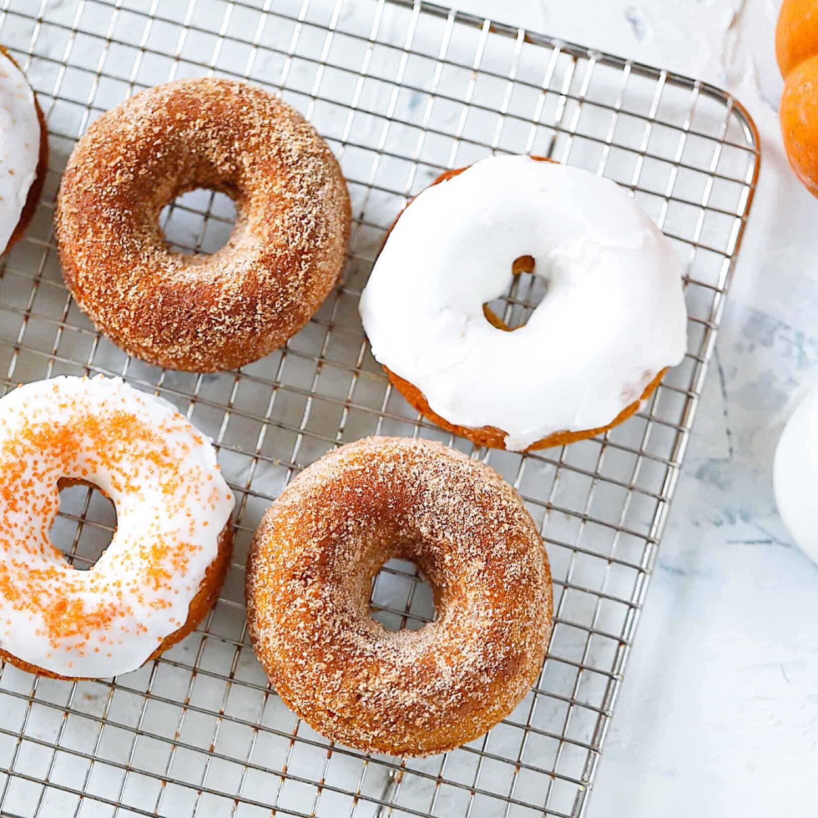 Vegan Pumpkin Donuts