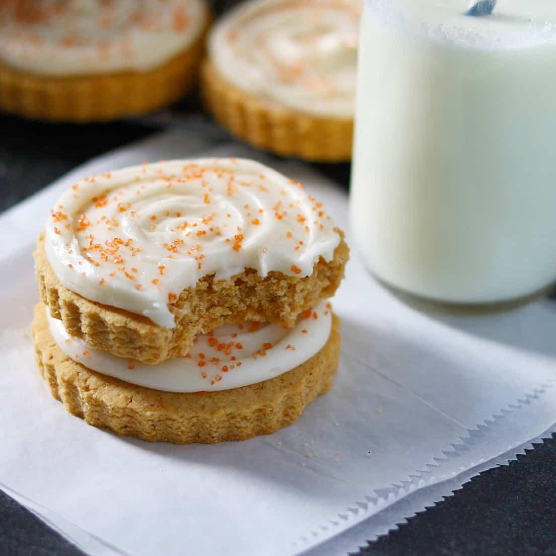 Iced Pumpkin Sugar Cookies