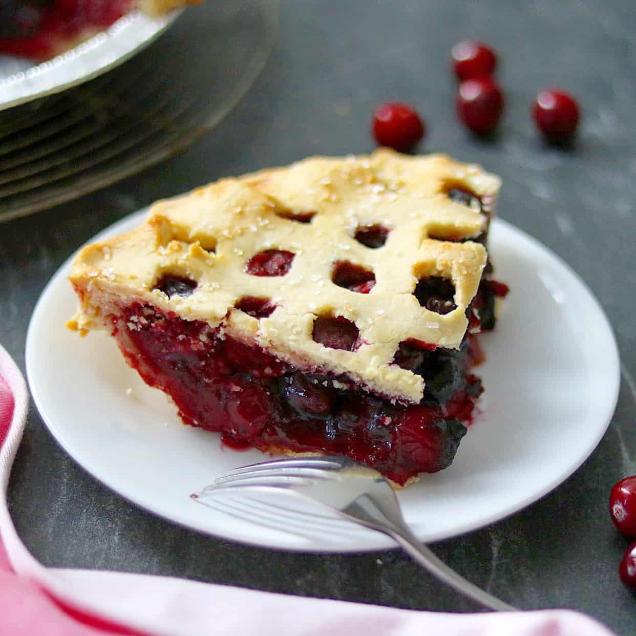 Cranberry-Cherry Pie (Grain-Free and Dairy-Free)