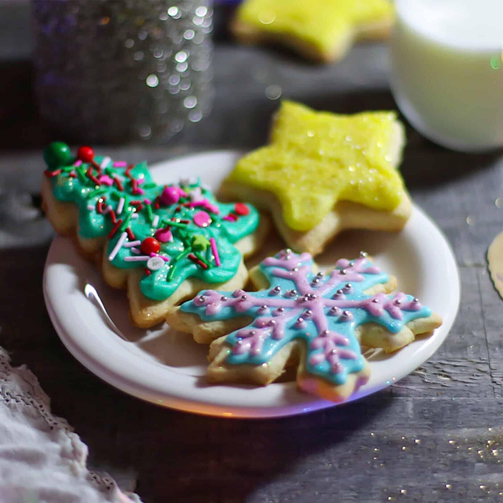 Holiday Iced Sugar Cookies