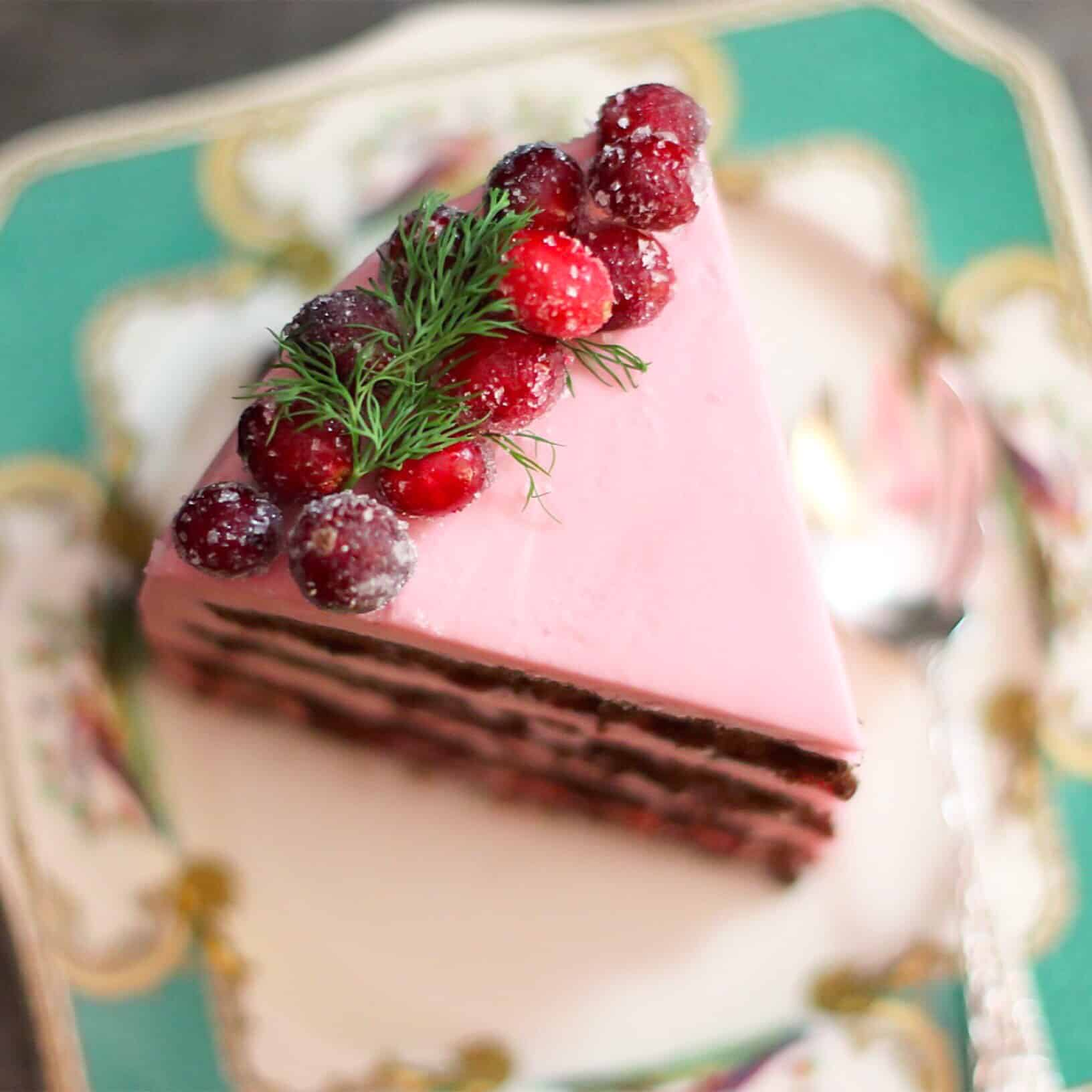Cranberry Cherry Chocolate Layer Cake
