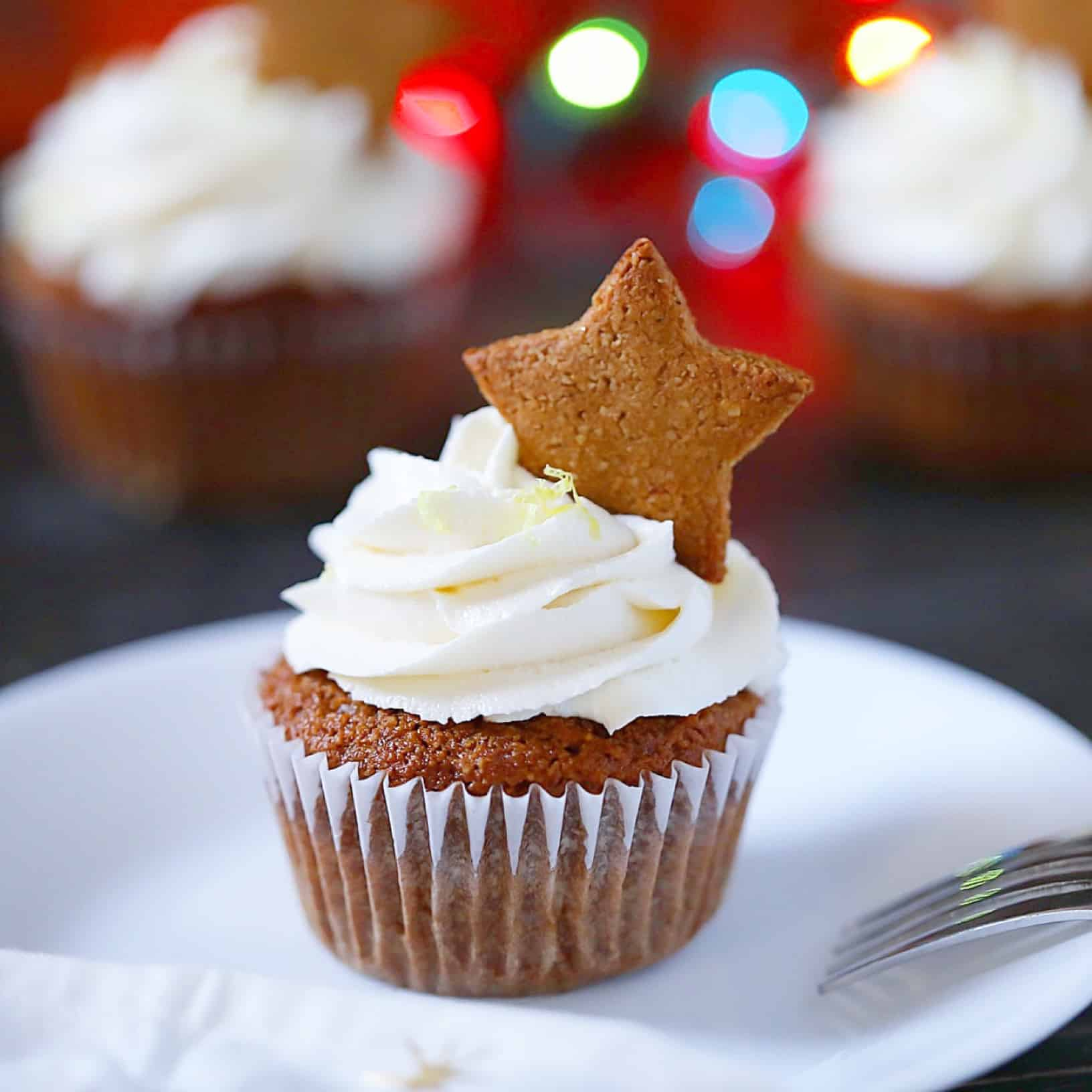 """SCD Gingerbread Cupcakes With Lemon """"Cream Cheese"""" Frosting"""
