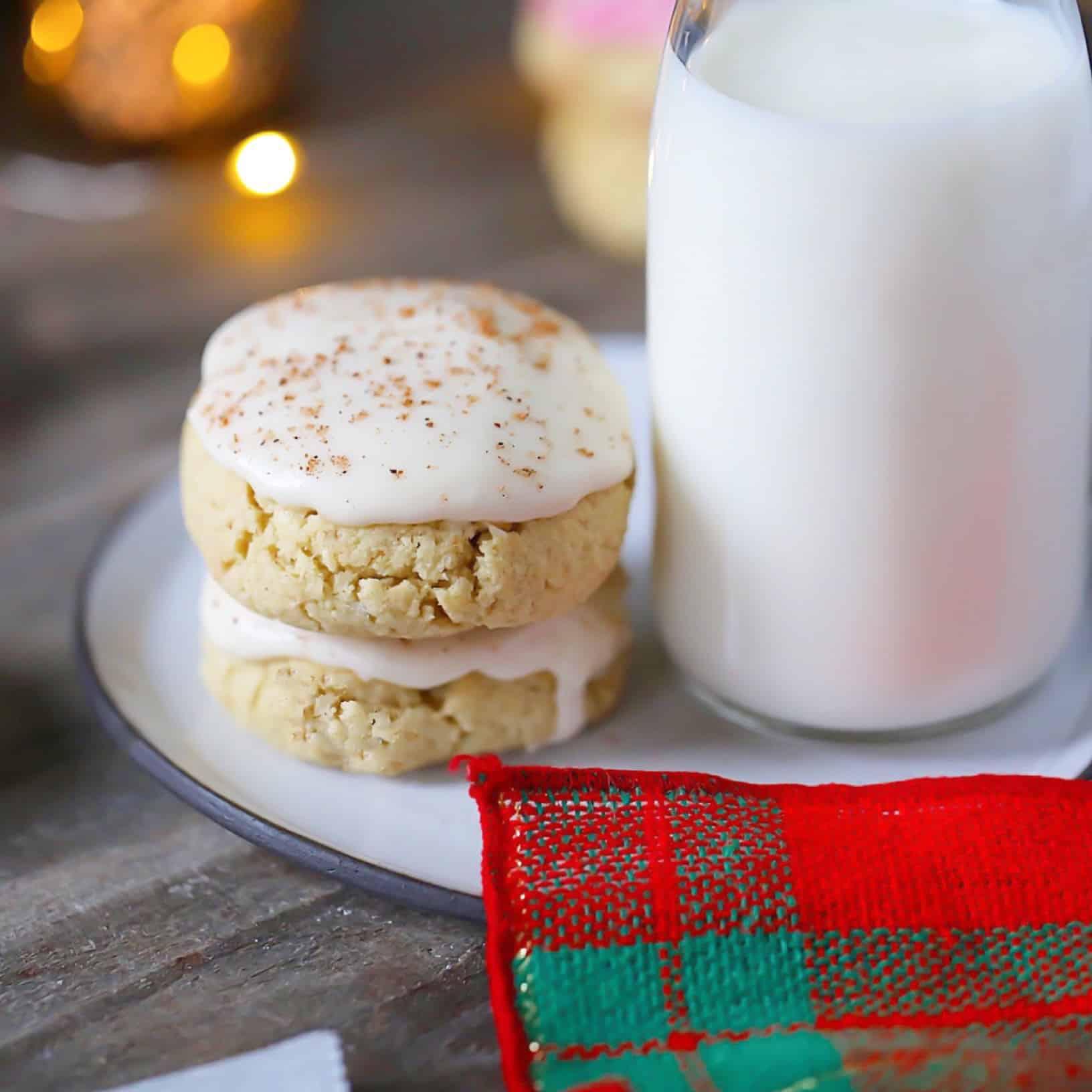 """Bourbon"" Glazed Eggnogg Cookies"