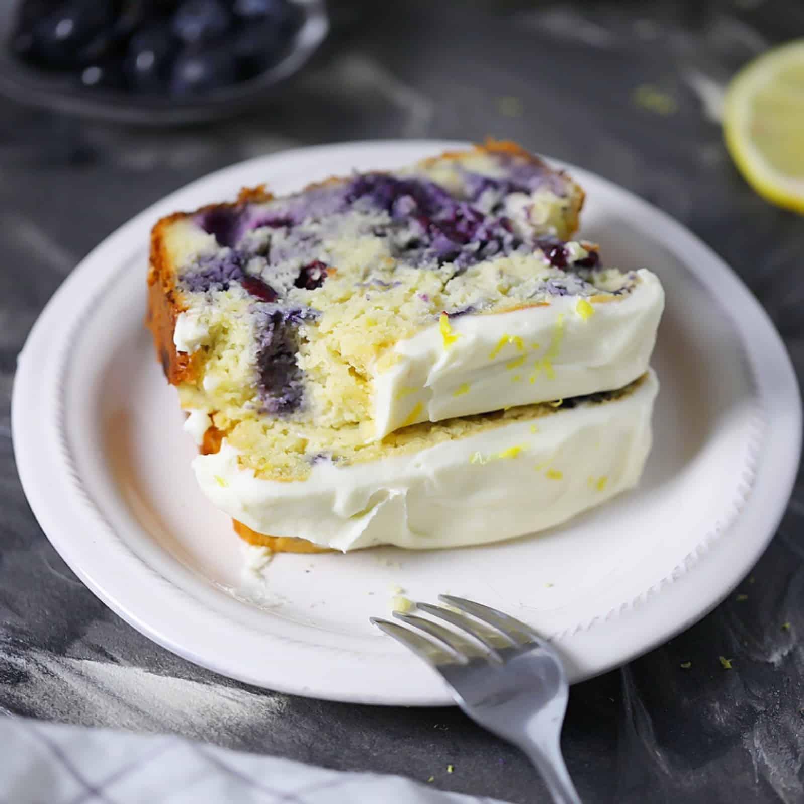 moist, delicious keto lemon blueberry bread