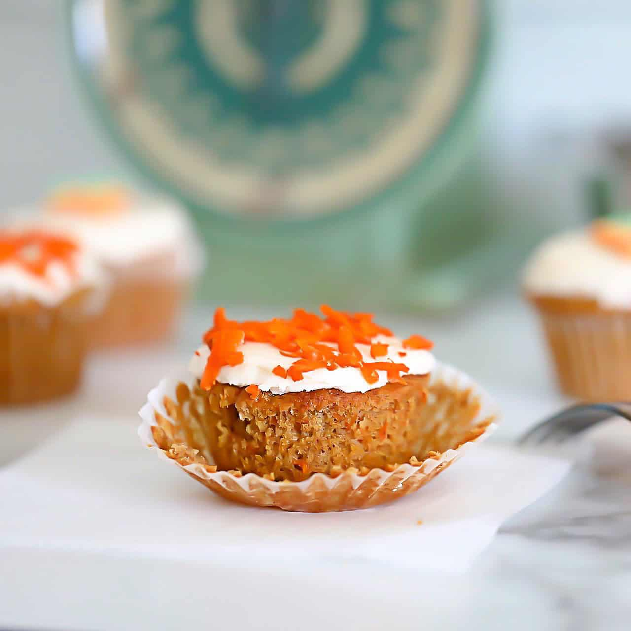 Iced Keto Carrot Muffins