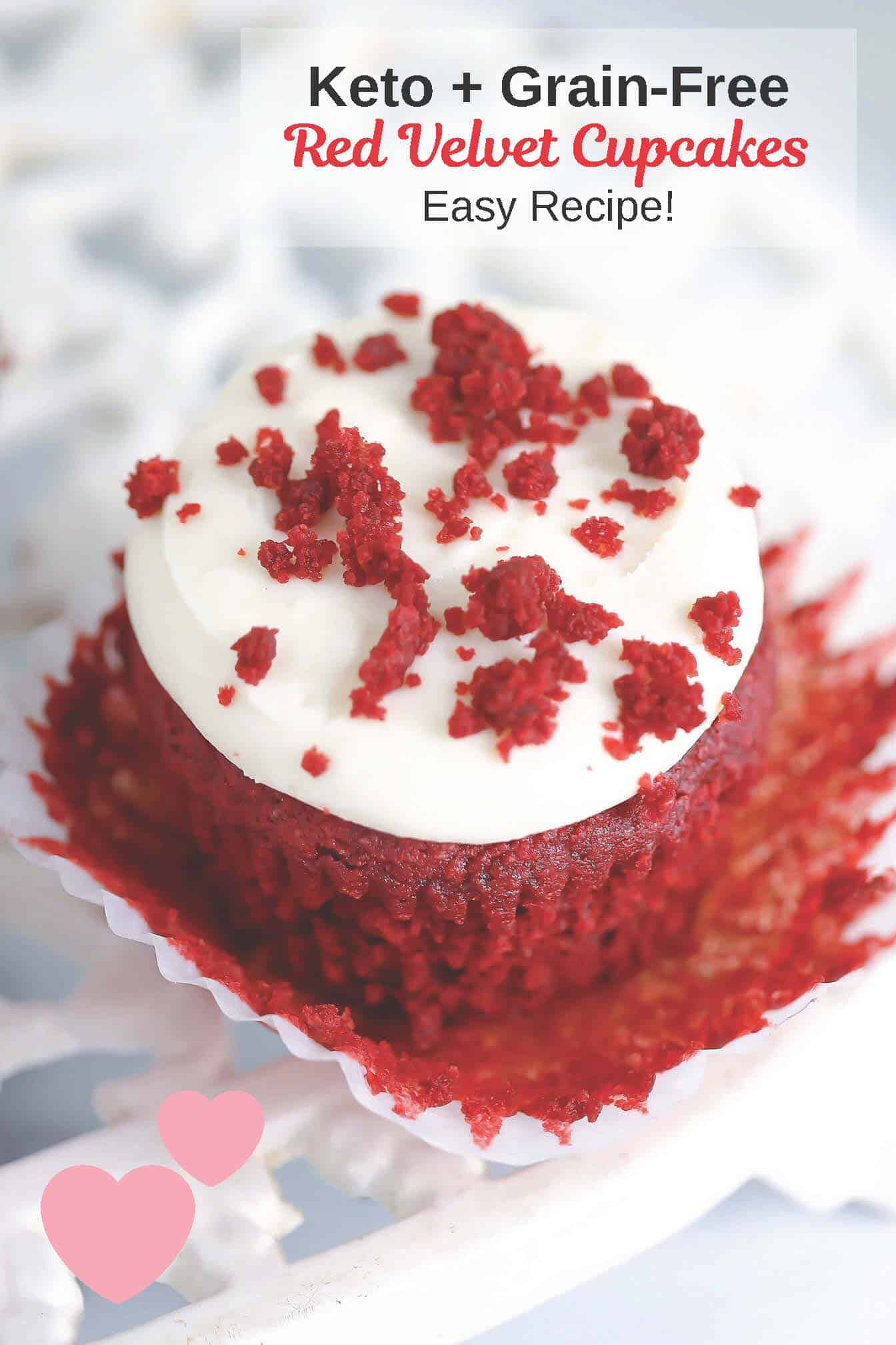 keto red velvet cupcake pin