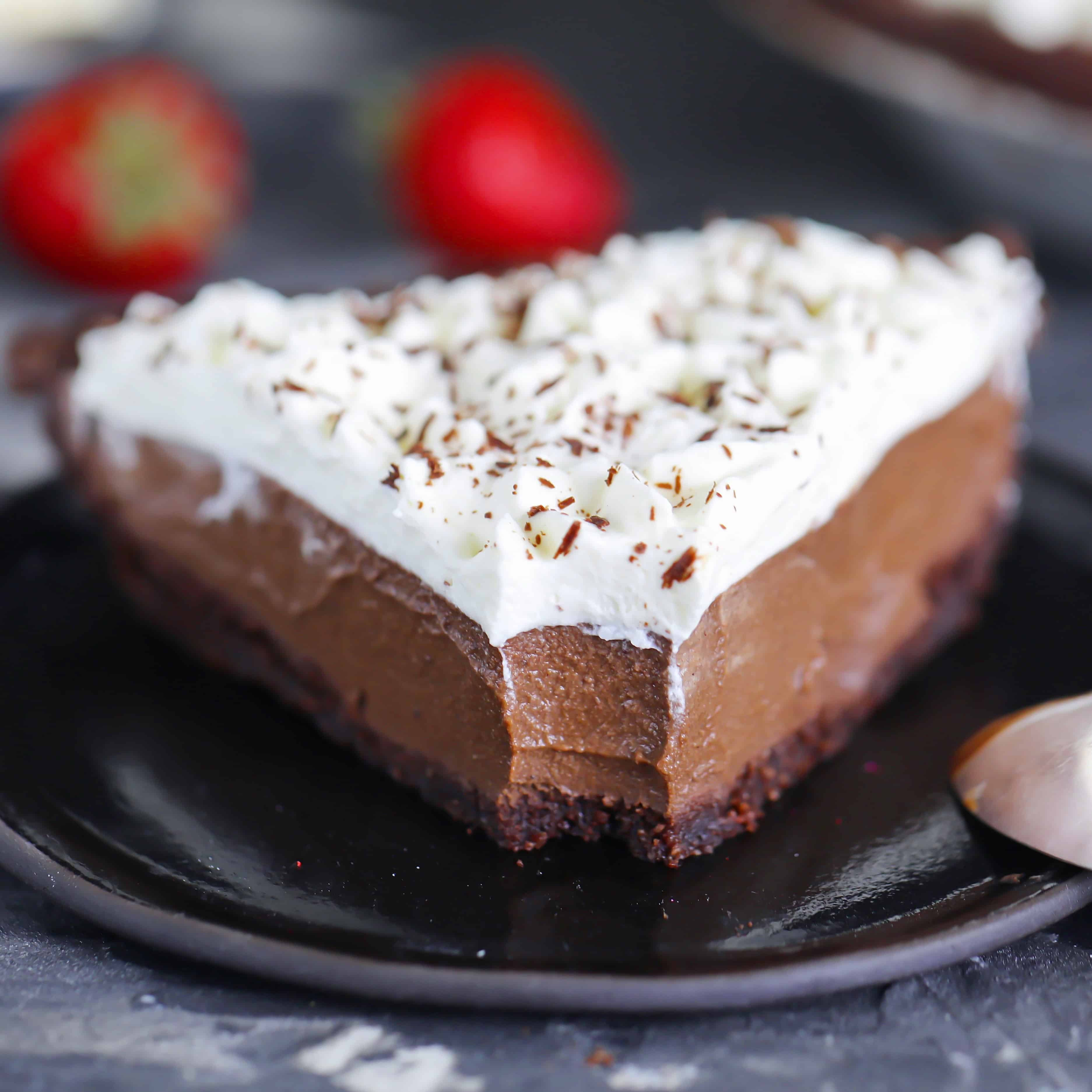 Low-Carb Chocolate Cream Pie