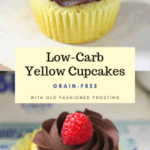 Low-Carb Yellow Cupcakes with Chocolate Frosting
