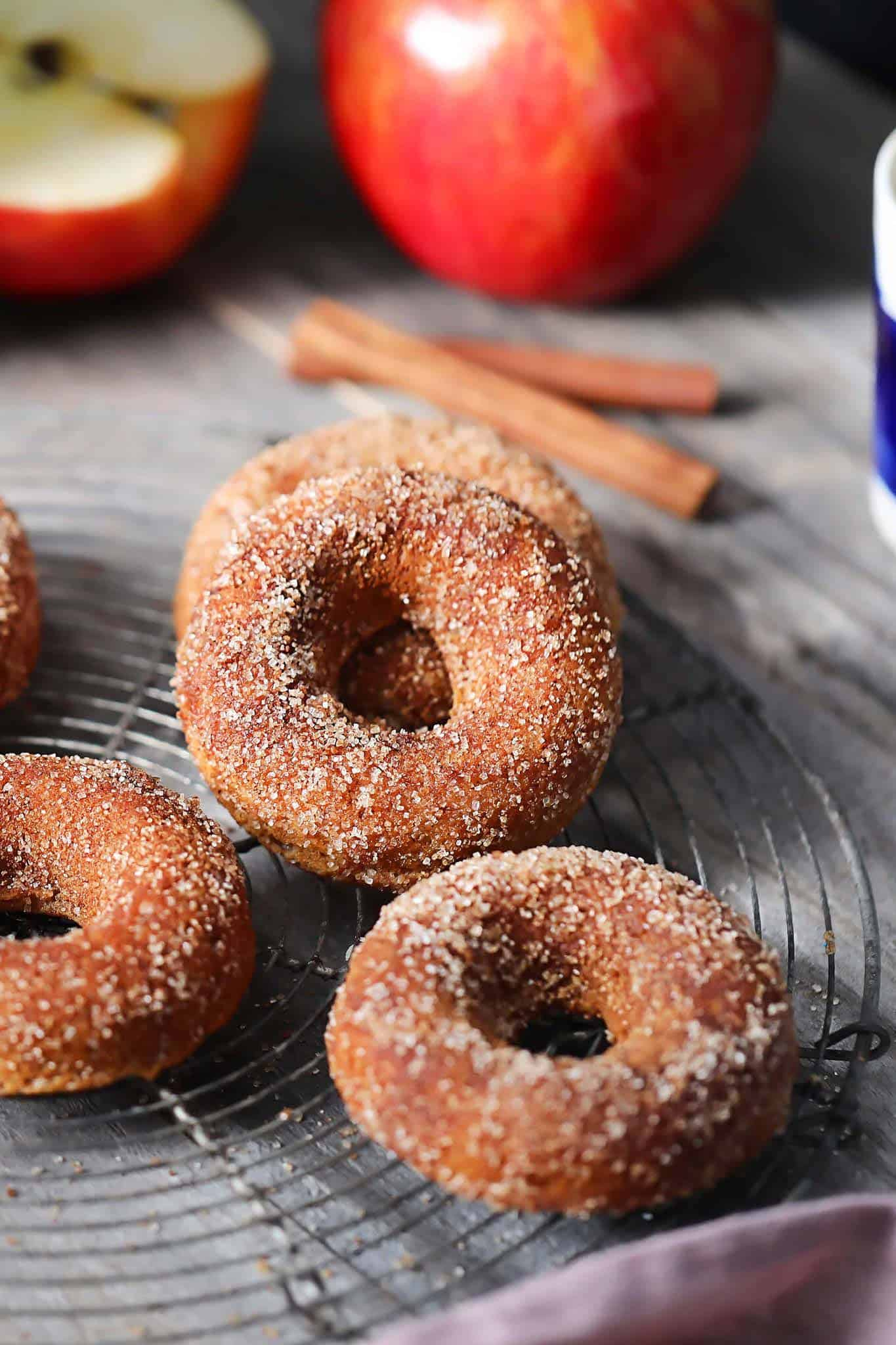 apple cinnamon donut pin