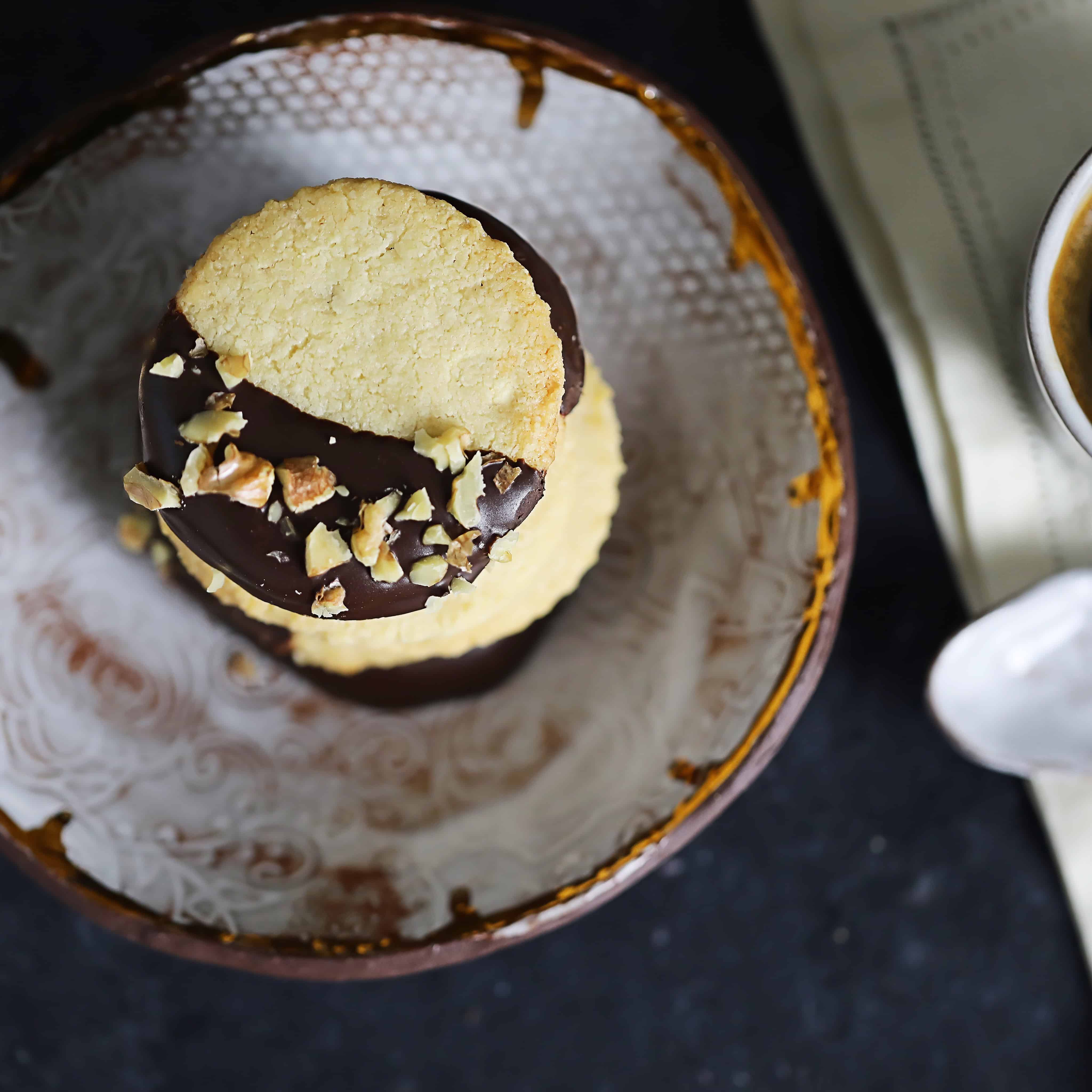 Vegan + Grain-Free Shortbread Cookies