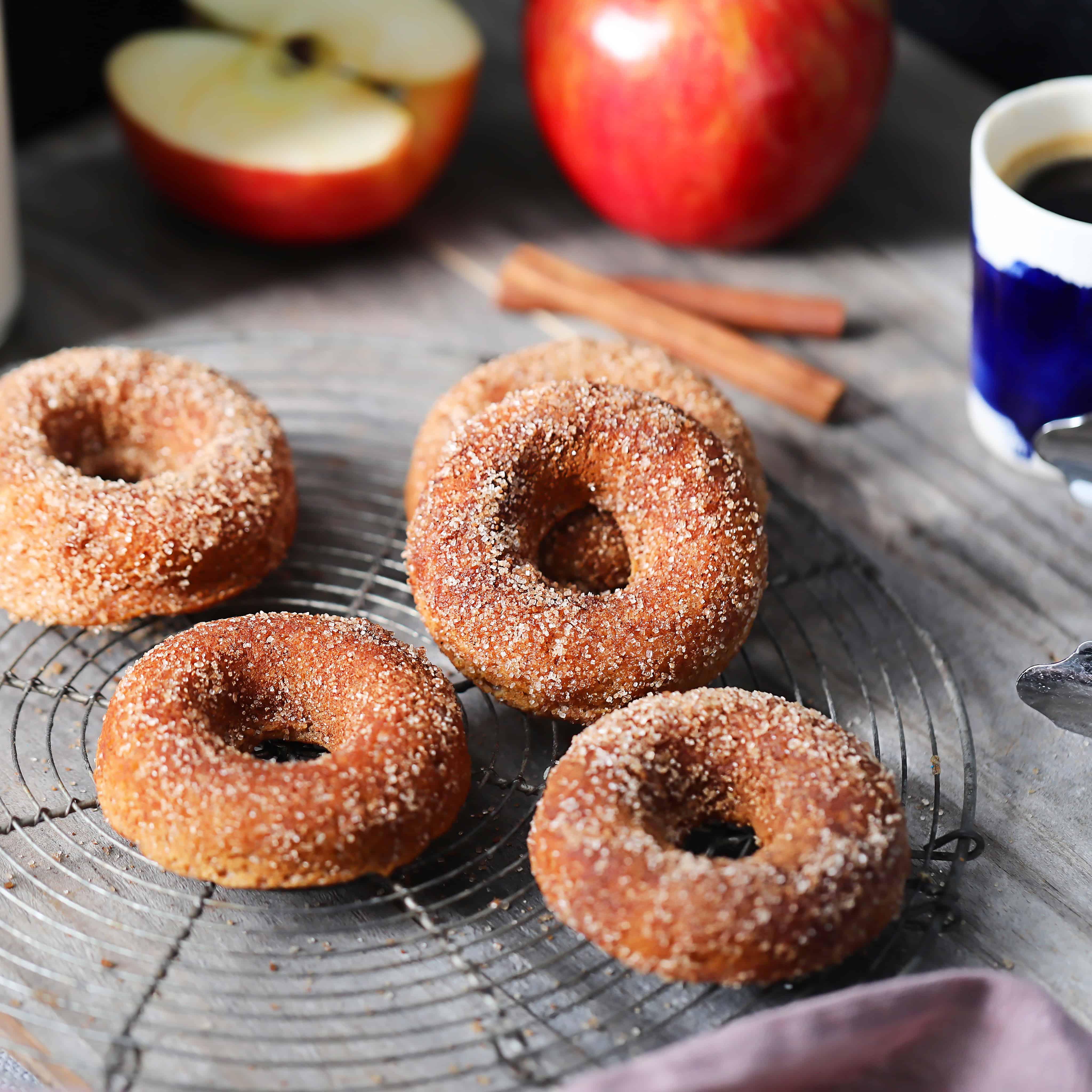 Vegan/Paleo Cinnamon Apple Donuts