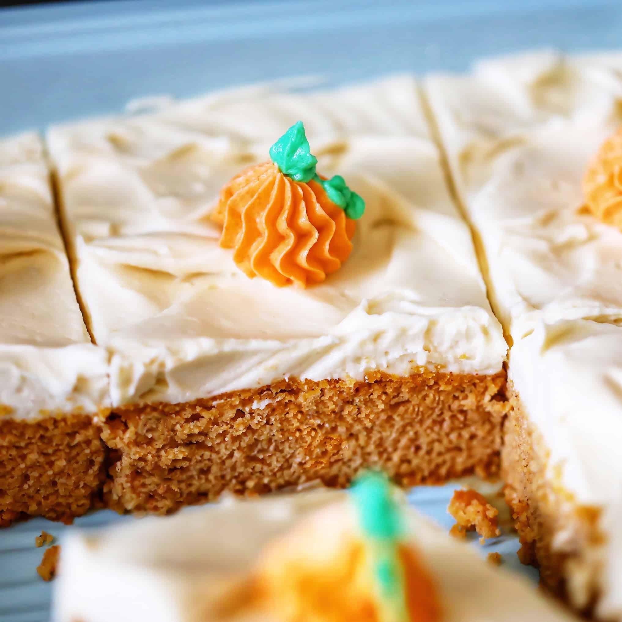 Keto Iced Pumpkin Cake