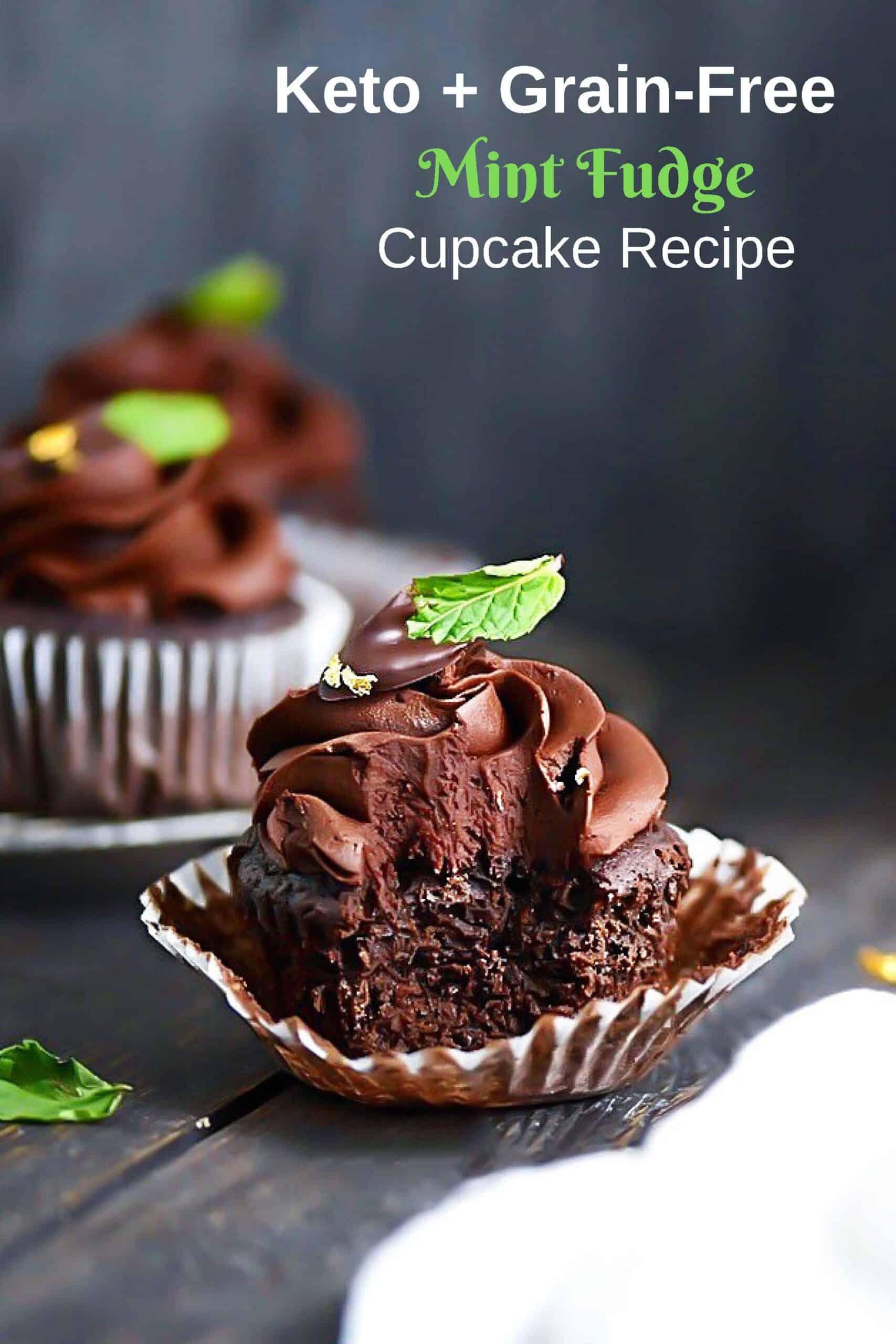 Mint Fudge Cupcake Pin