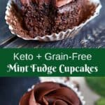 Keto Mint Fudge Cupcake Pin