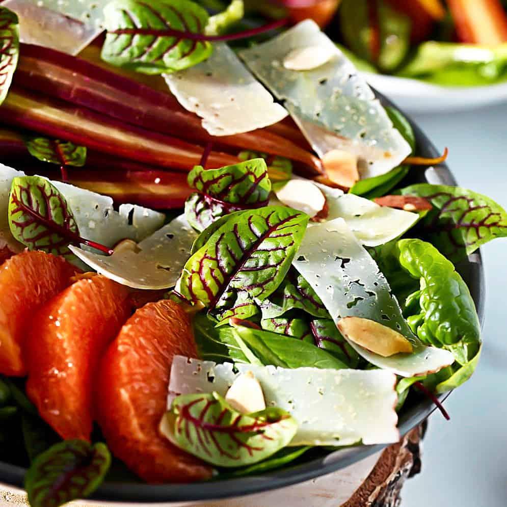Winter Salad With Orange Ginger Dressing