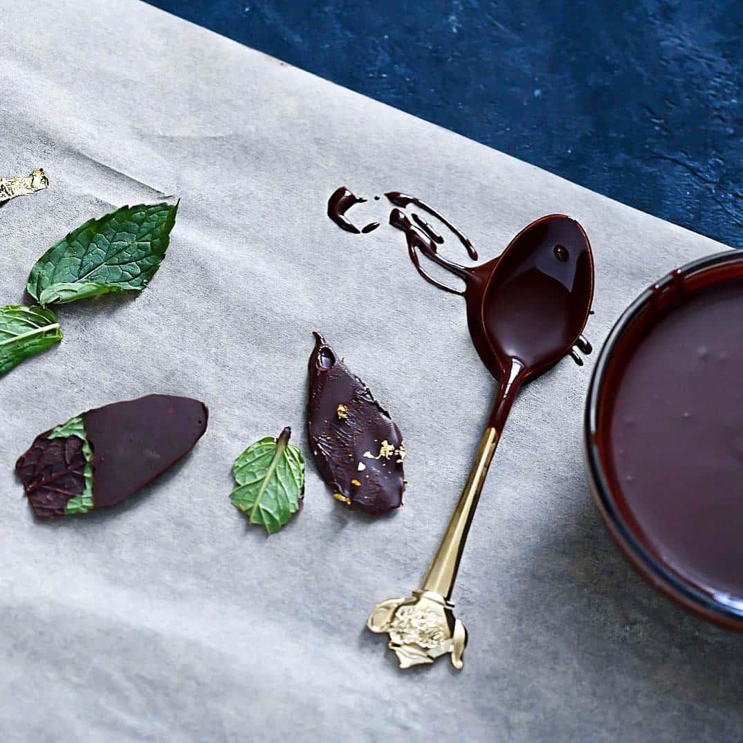 Keto Chocolate Mint Leaves