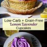 Lemon Lavender Cupcake Pin