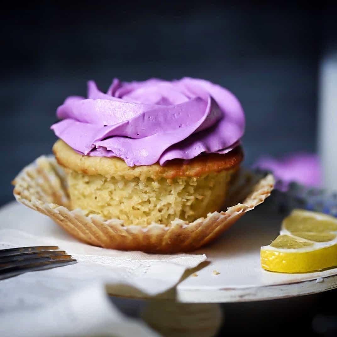 Lemon cupcakes closeup
