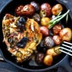 Rustic Chicken Overhead Photo