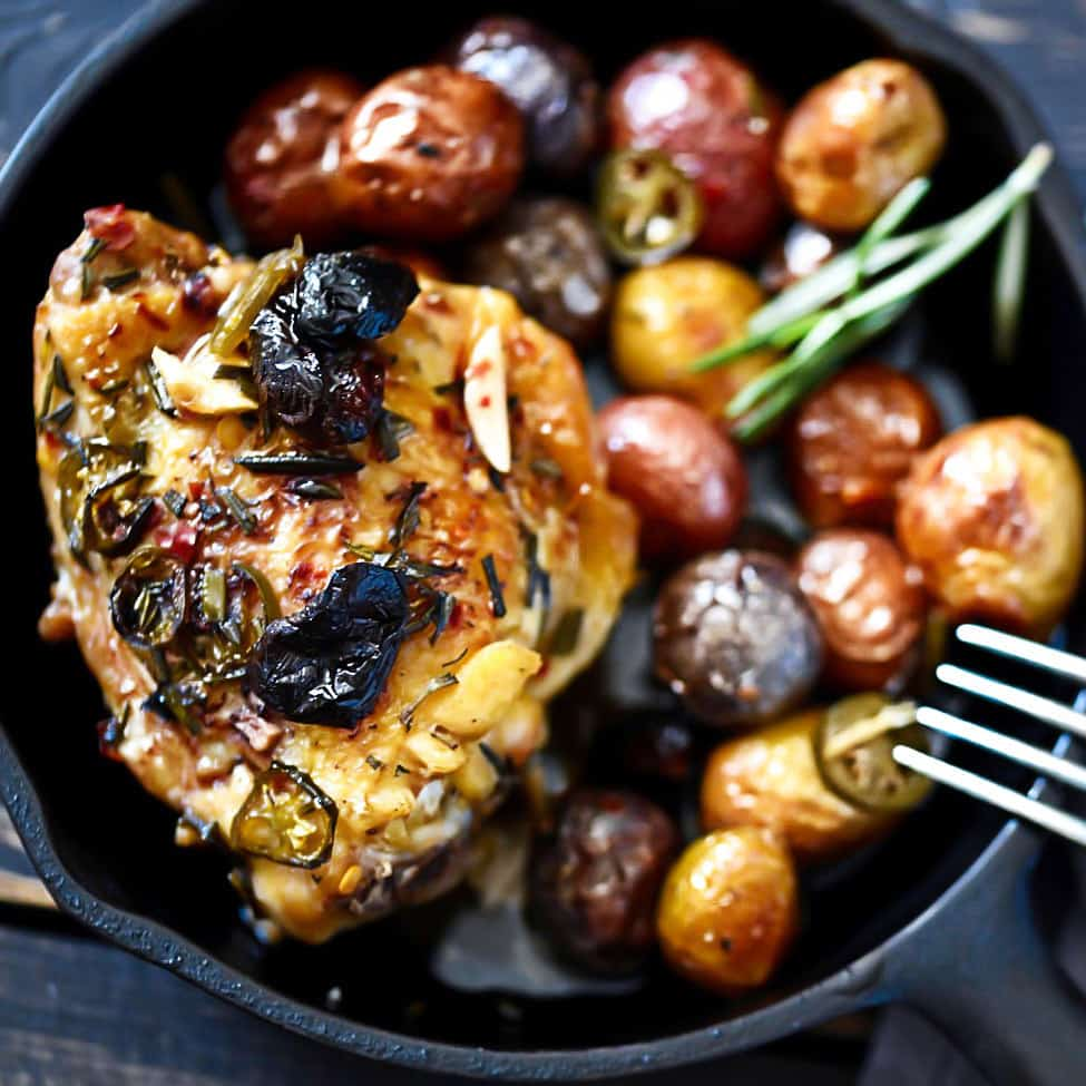 Rustic Chicken With Olives