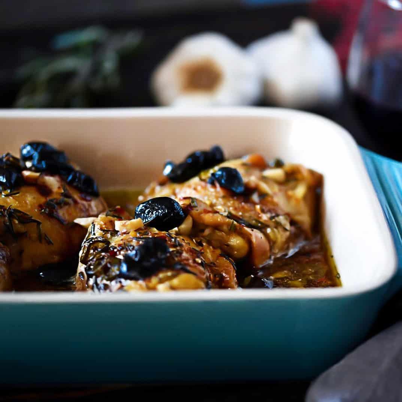 Rustic Chicken In Casserole Dish