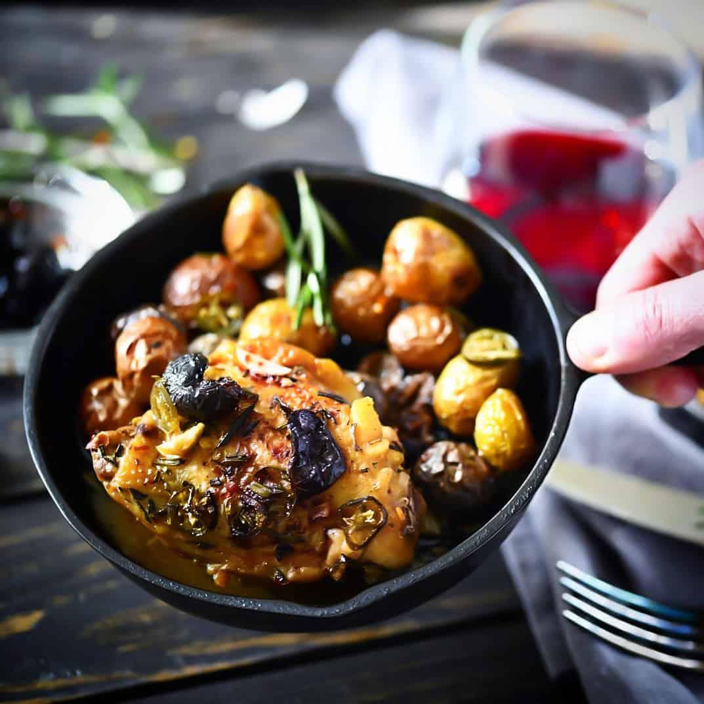Rustic Chicken in pan