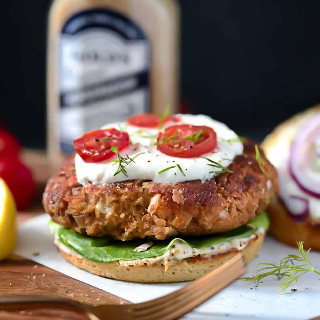 Keto + SCD Salmon Burgers