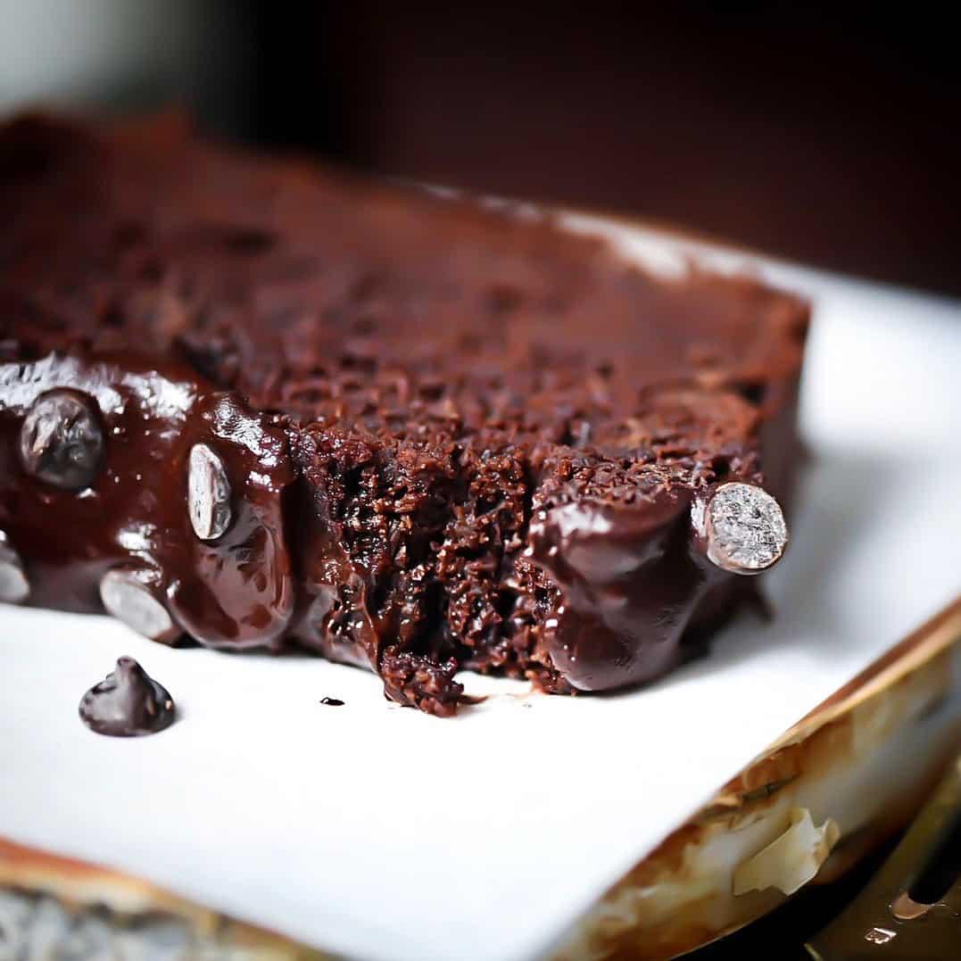 Closeup Photo Of Keto Chocolate Bread Slice