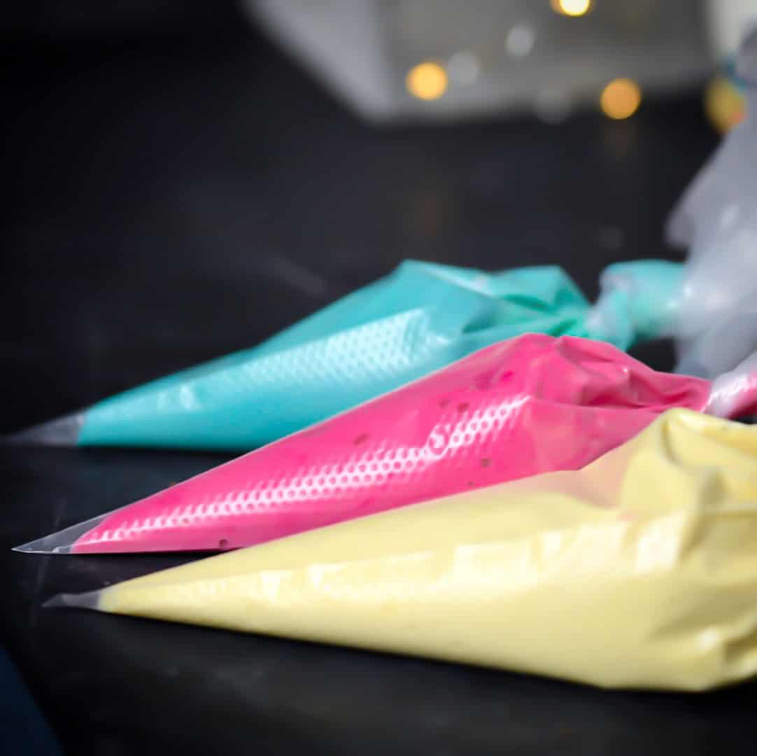 Keto Cupcake Batter in Icing Bags
