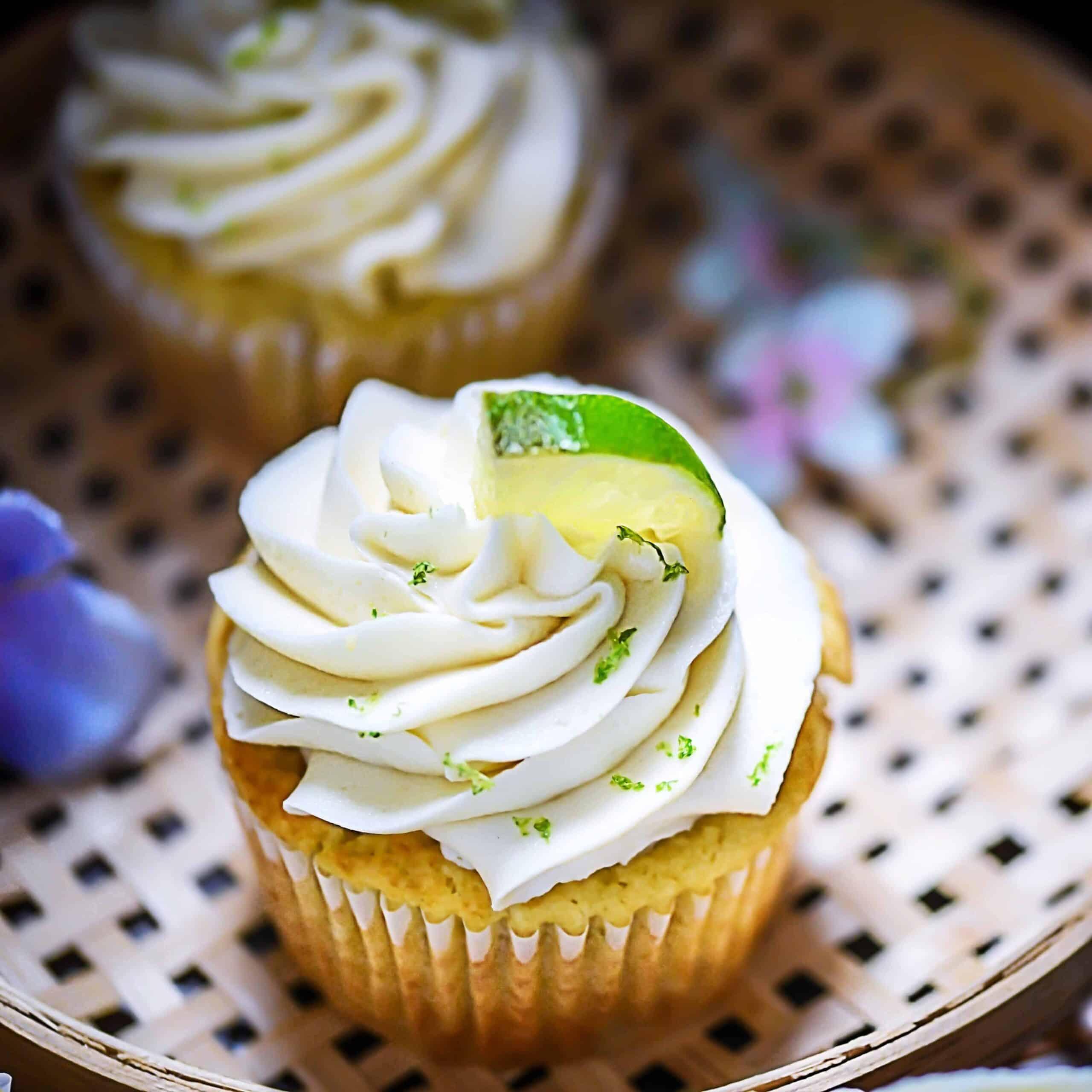 Grain-Free Cupcakes in basket