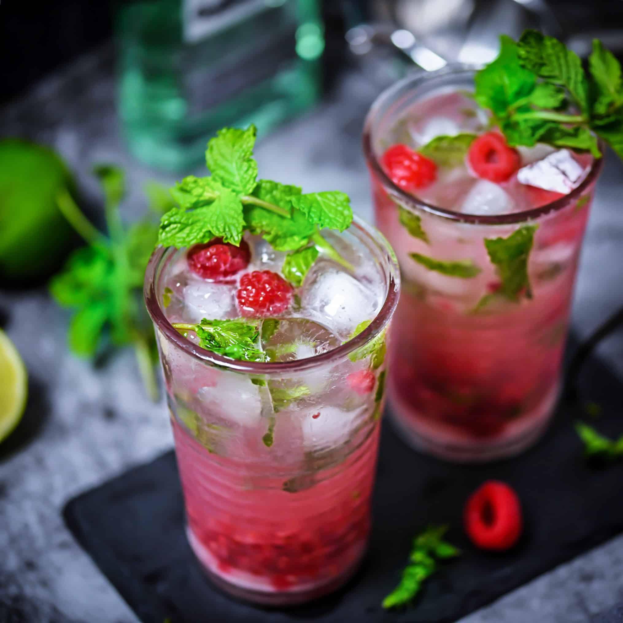 Mojito Cocktails with garnish