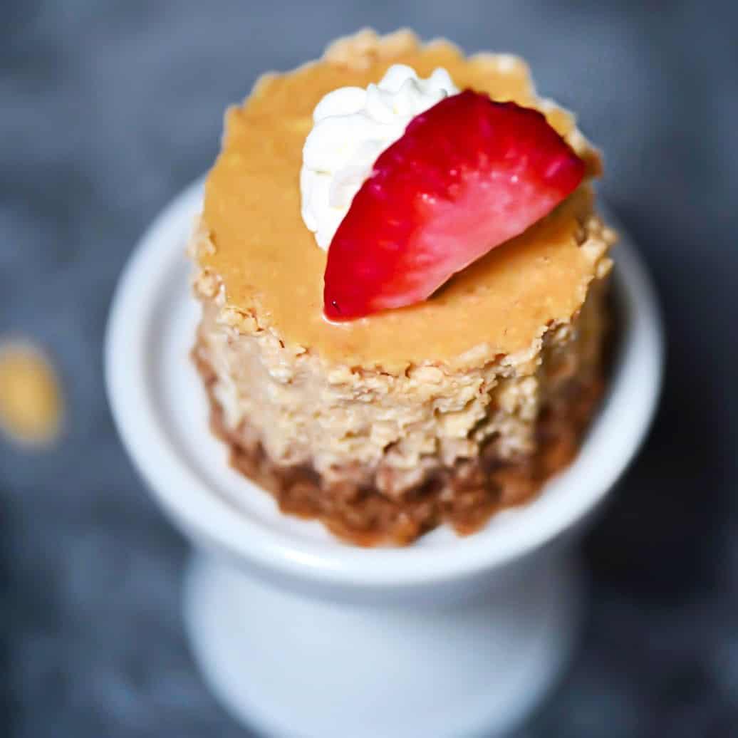 Naturally Sweetened Gluten-Free Peanut Butter Cheesecake