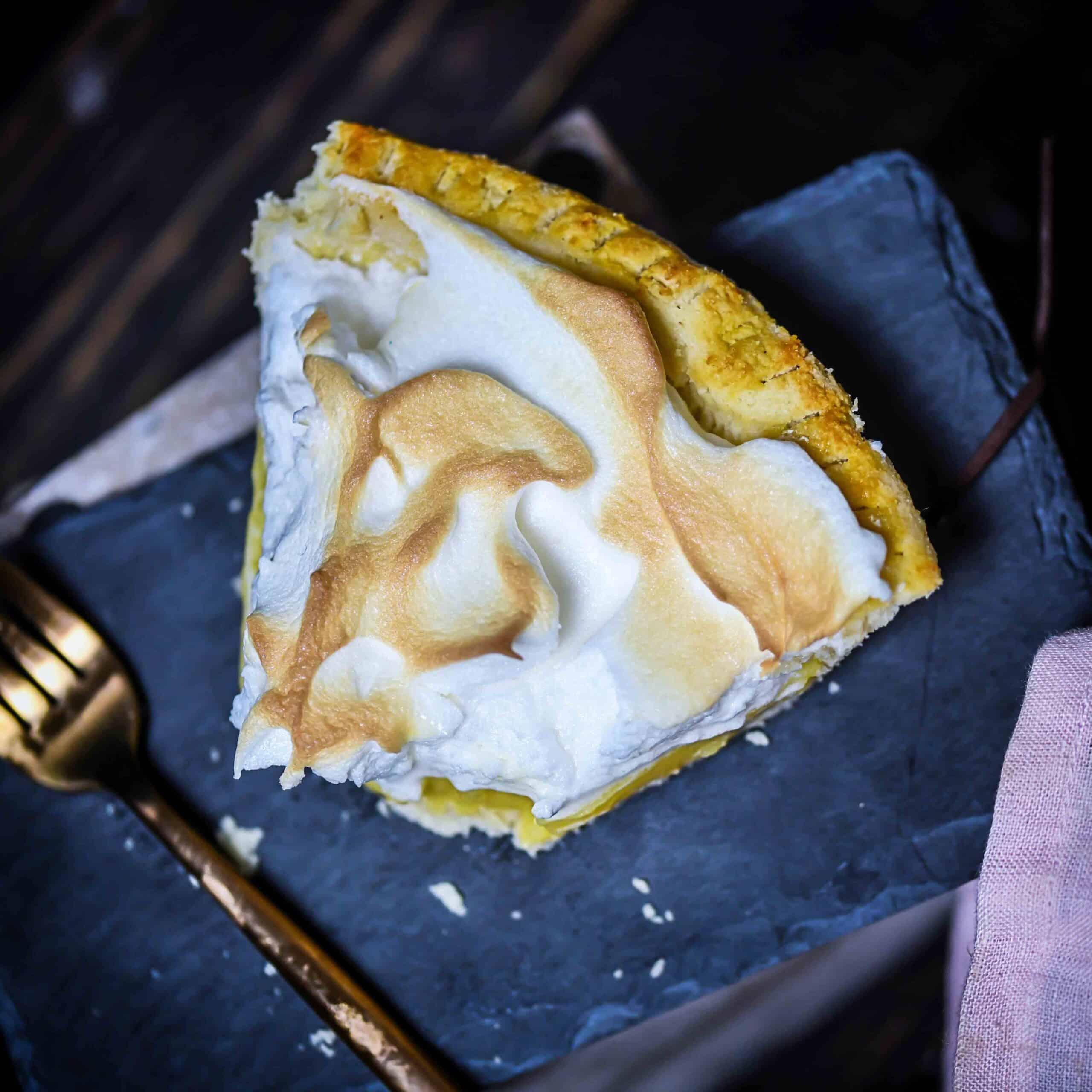 Low-Carb Lemon Meringue Pie overhead