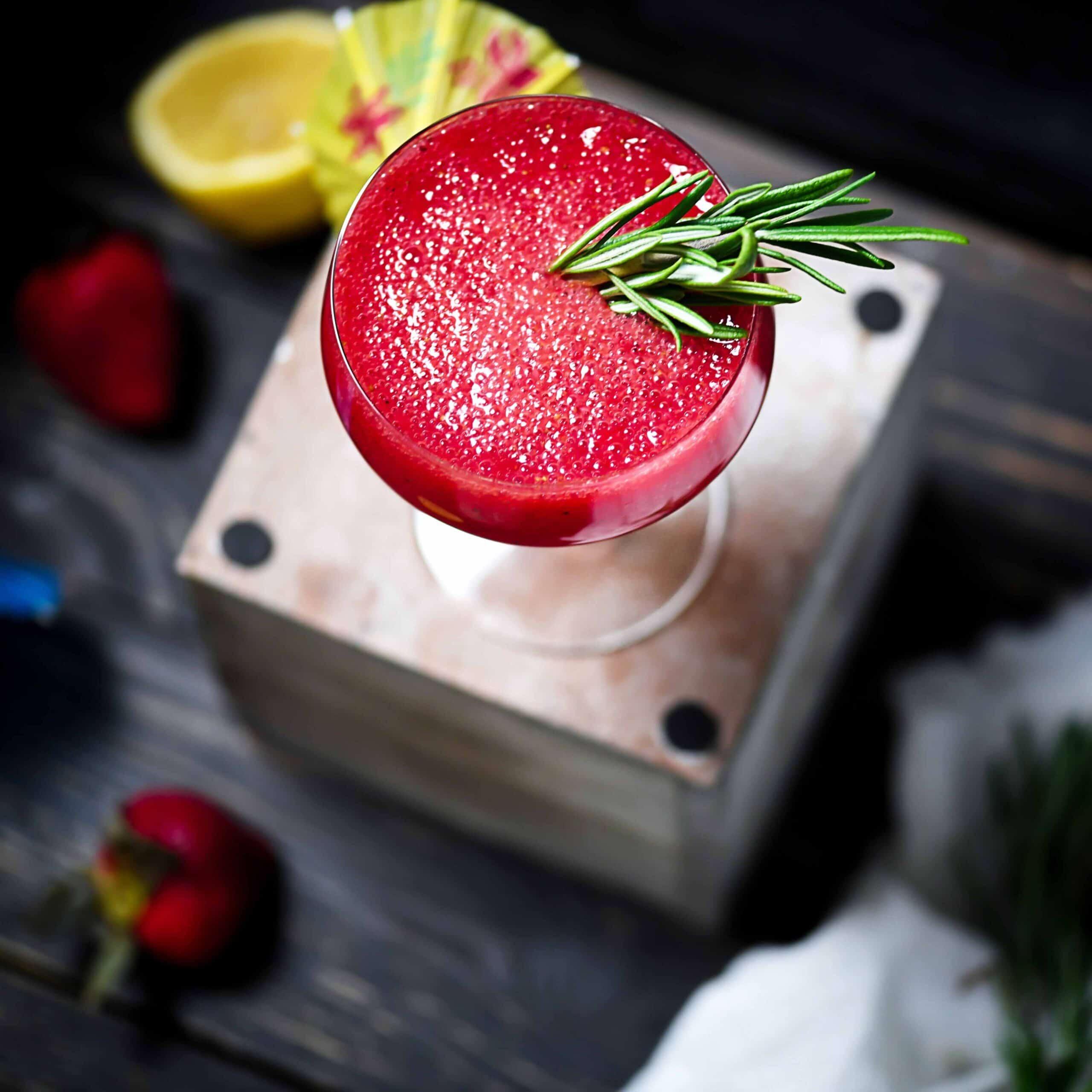 Keto Strawberry Rum Fizz