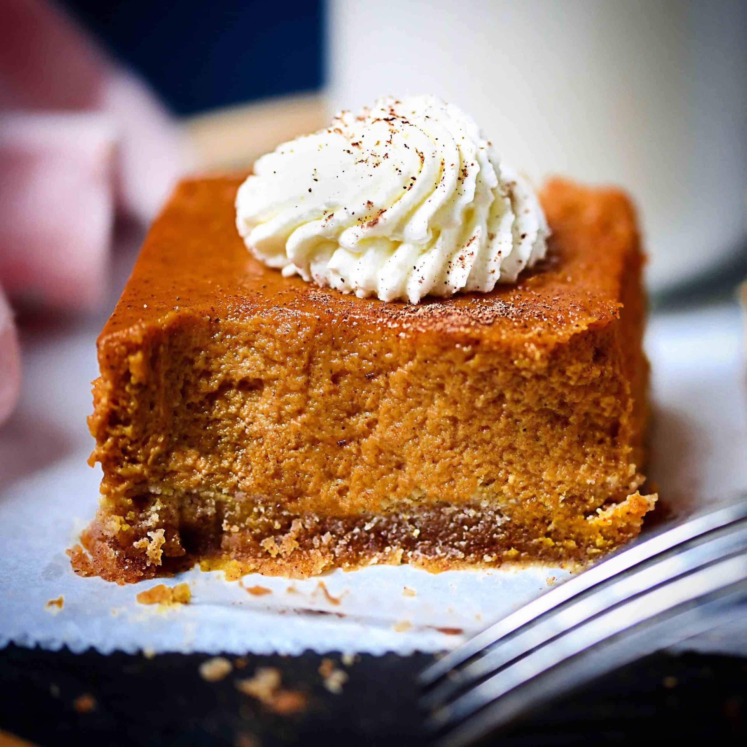 Keto Pumpkin Pie Graham Squares.