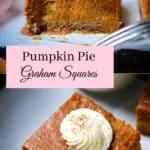 Keto Pumpkin Pie Square Pin