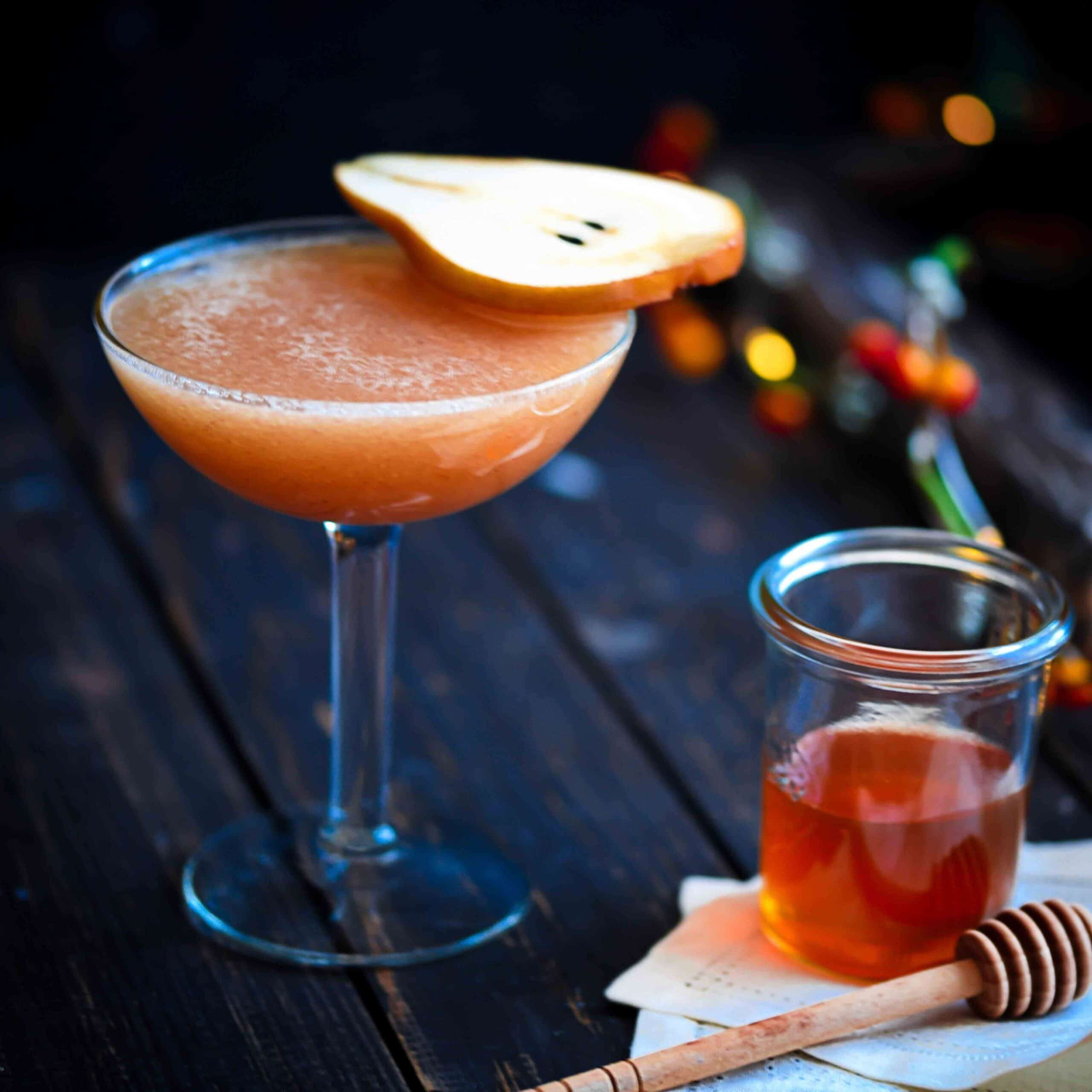 Bourbon Blitz, Fall Cocktail with pear