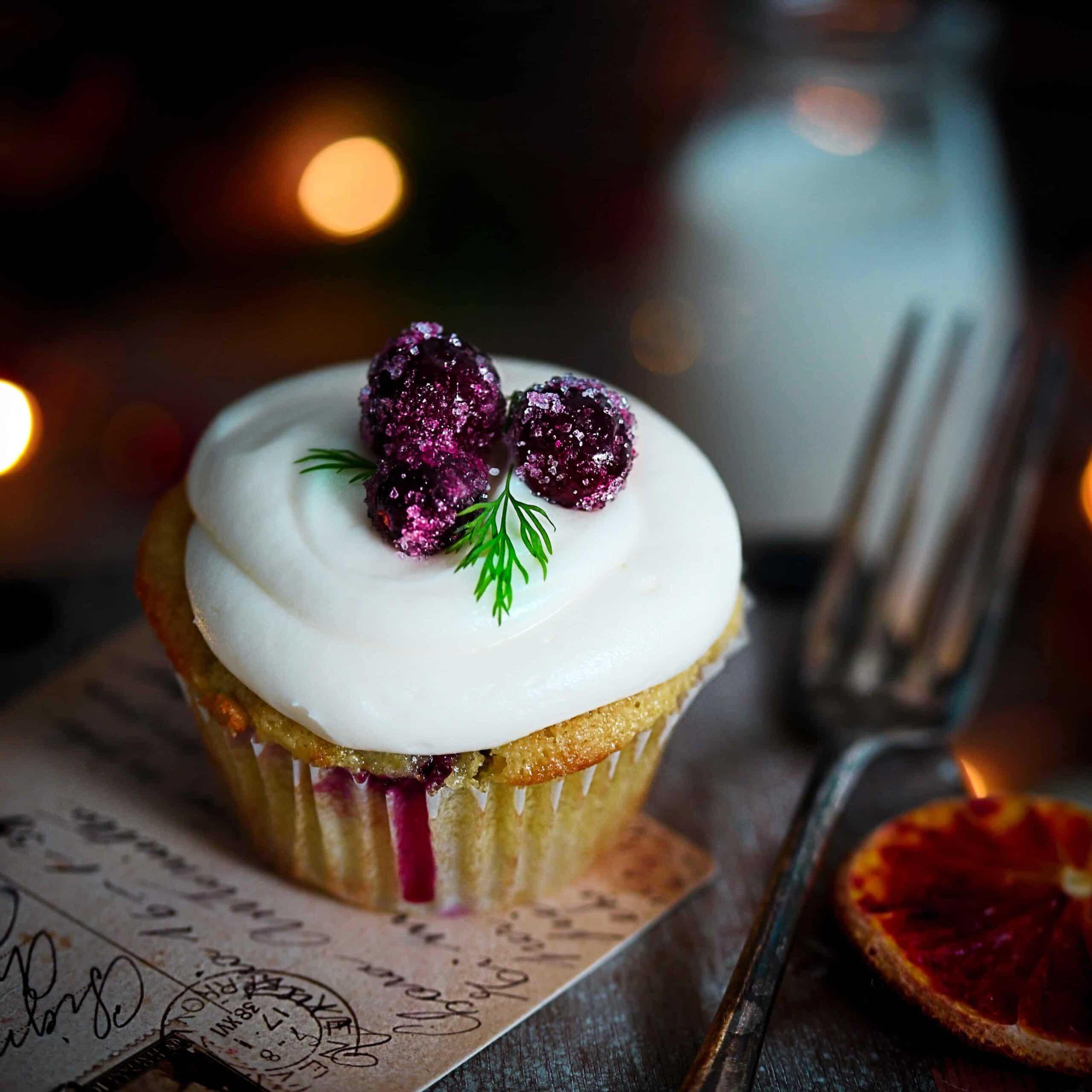 gluten-free cranberry cupcakes