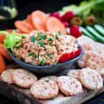Smoked Trout Appetizer Cheese crackers