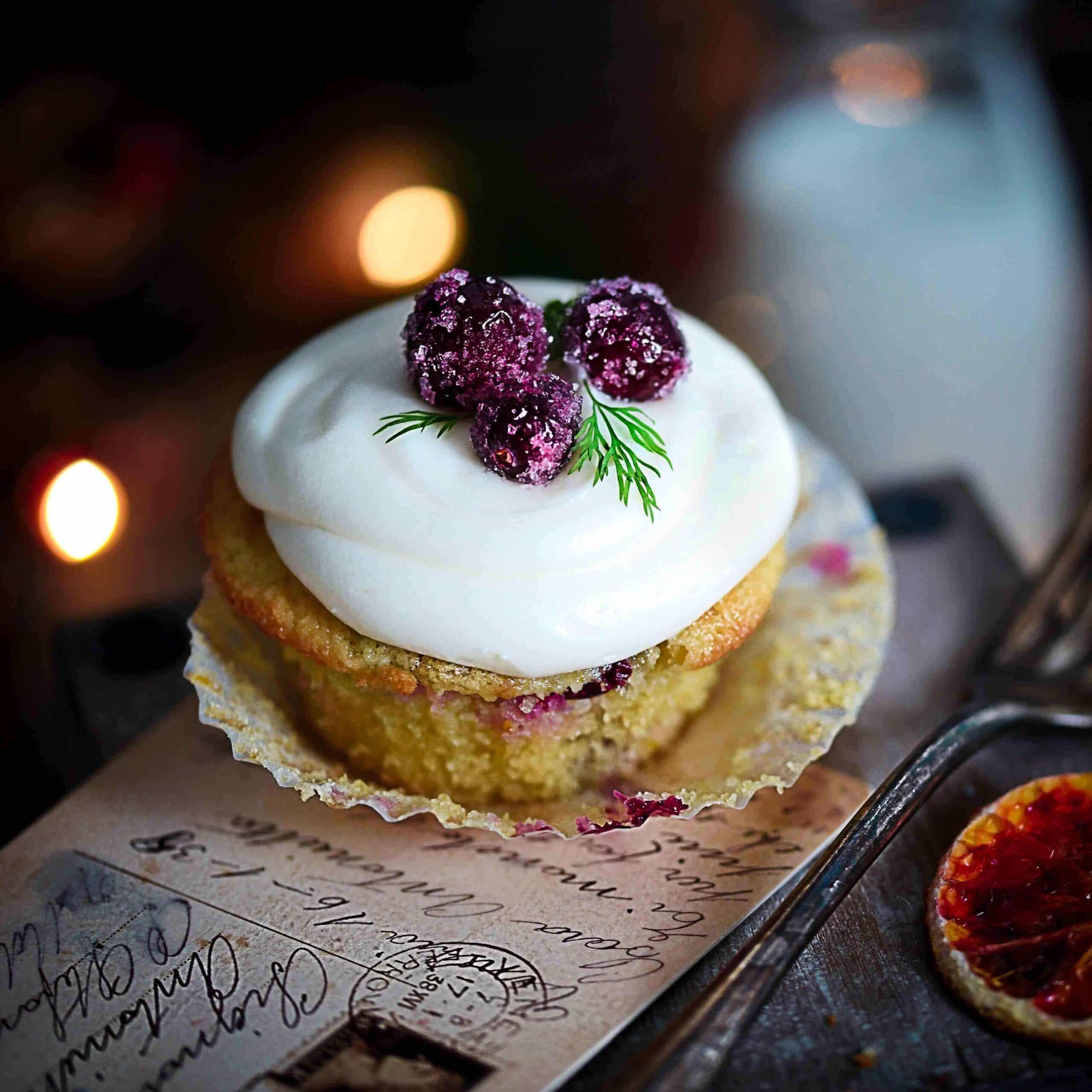 Grain-Free Cranberry + Orange Cupcakes
