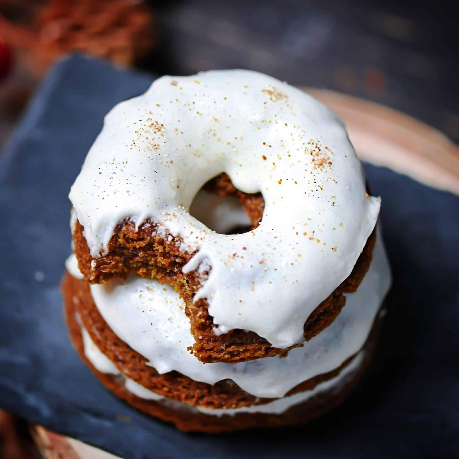 Vegan Molasses Cake Donuts
