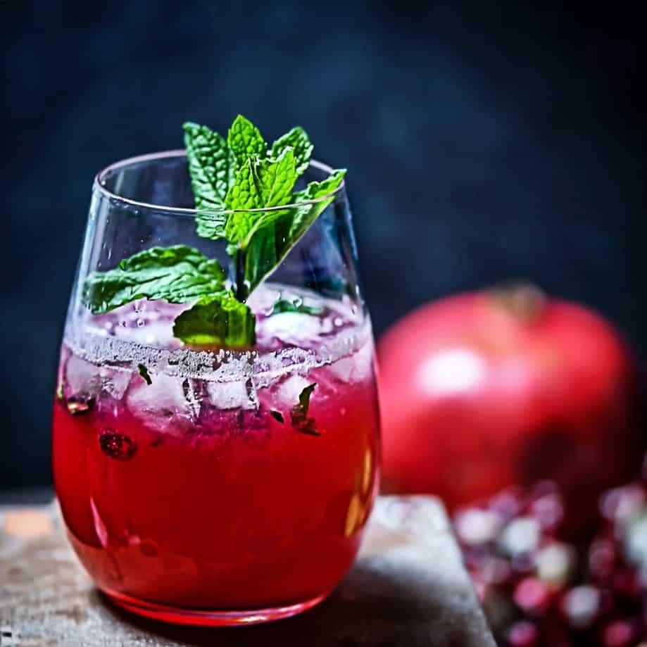 Paleo Pomegranate Mocktail