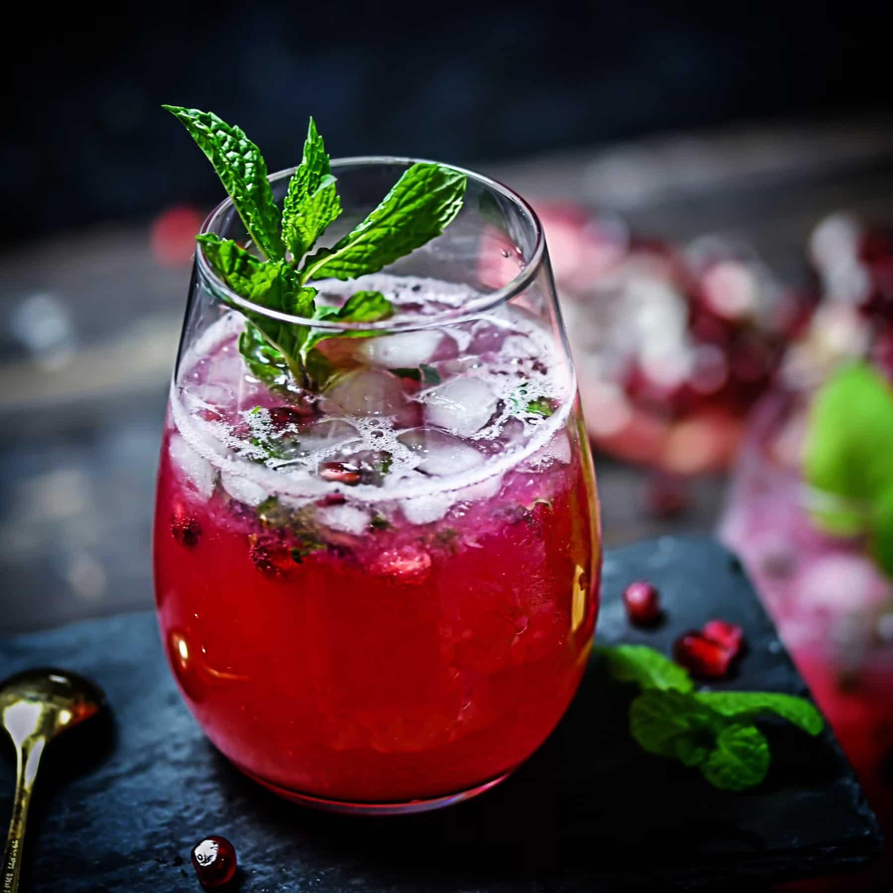 Pomegranate Lime Soda
