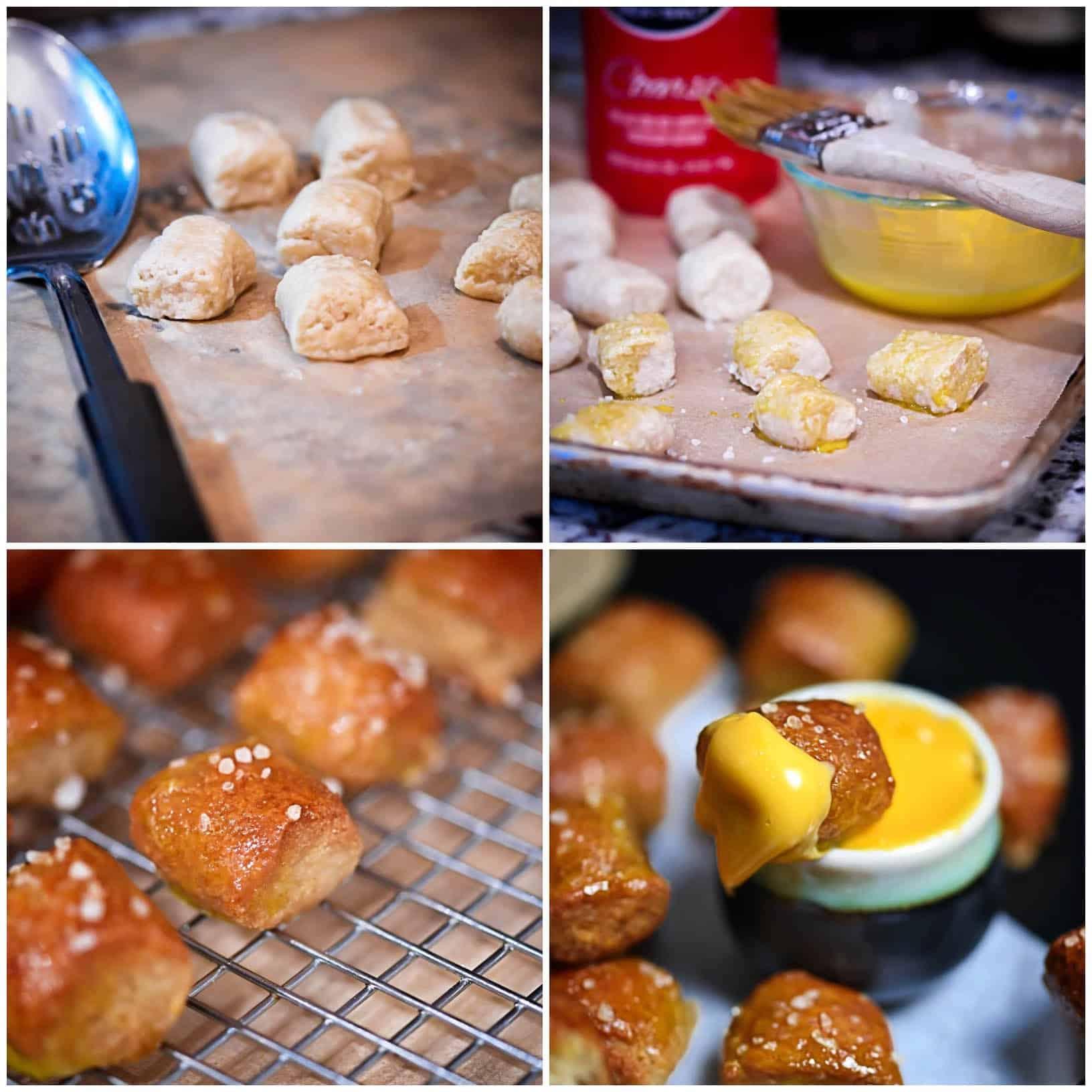 Grainless Soft Pretzel Instruction Photos