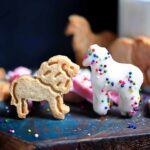 Lion + Horse Animal Cookies in White Chocolate and sprinkles