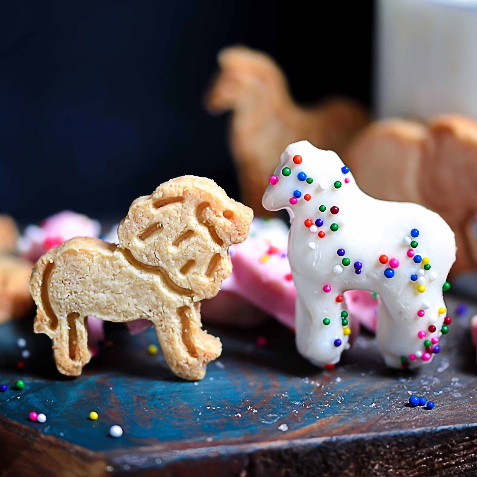 Grain-Free Iced Animal Cookies