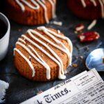 Grain-Free Keto Pumpkin Scones with glaze