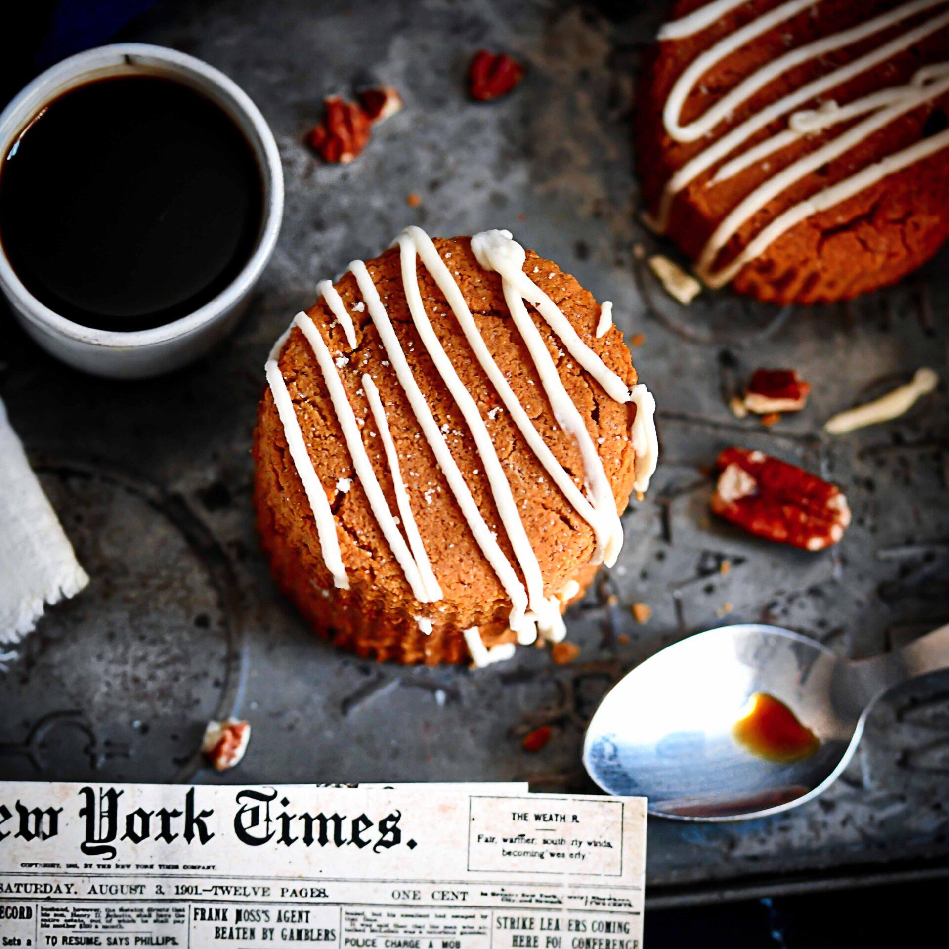 Gluten-Free, Dairy-Free, Sugar-Free Pumpkin Scones overhead photo
